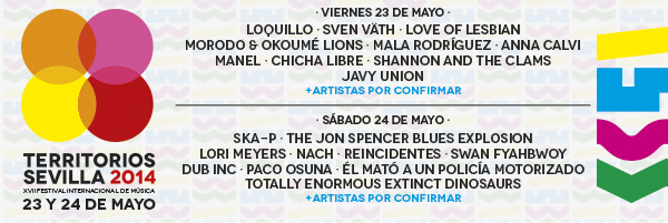El Festival TERRITORIOS SEVILLA, va pillando forma con Ska-p, Dub Inc., Loquillo, The Jon Spencer Blue Explosion, Love of Lesbian, Sven Vath y mas…