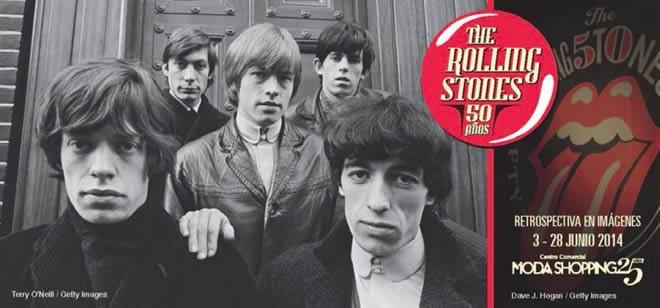 Se inaugura hoy en Madrid una exposición fotográfica de los 50 añitos de vida de los Rolling Stones. Del 3 al 28 de junio