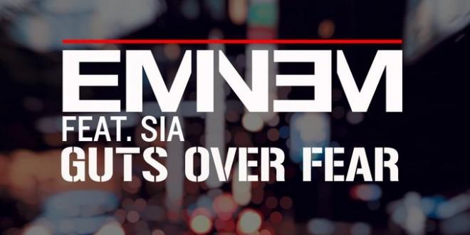 """Eminem lanza al mercado """"Guts over Fear"""" su nueva colabo con la cantante SIA."""