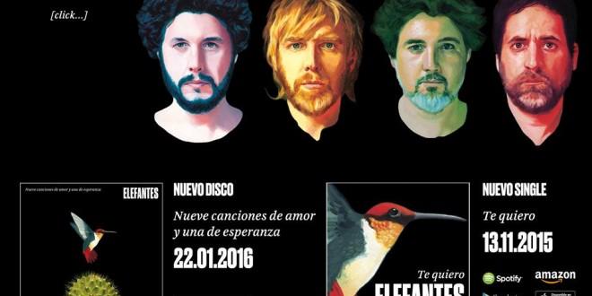 """Elefantes, Sidonie y Love Of Lesbian, realizan la version #indie de J.Luis Perales """"Te quiero"""""""