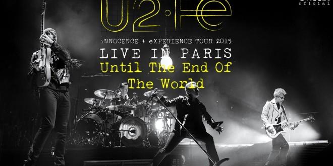Nuevo disco de U2 iNNOCENCE eXPERIENCE – Live In Paris, el 10 de Junio 2016